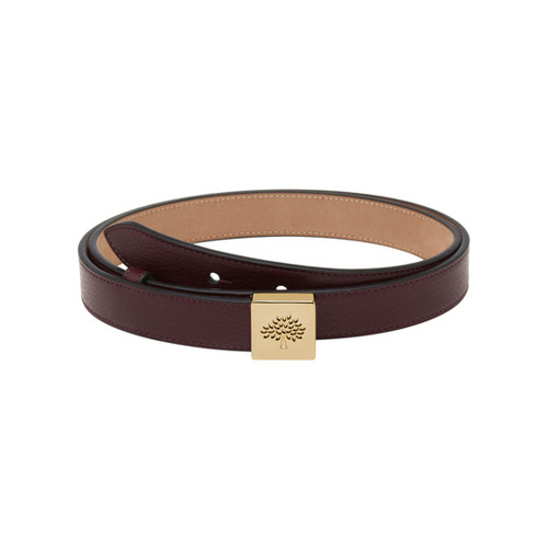 Mulberry Tessie Belt Oxblood Soft Small Grain