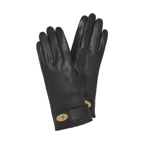 Mulberry Postman's Lock Glove Black Nappa
