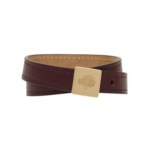 Mulberry Tessie Bracelet Oxblood Soft Small Grain