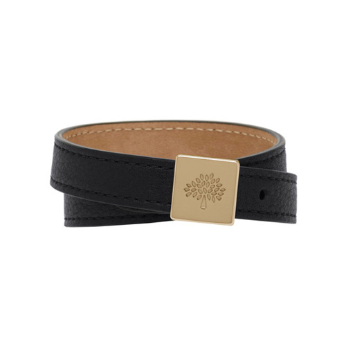 Mulberry Tessie Bracelet Black Soft Small Grain