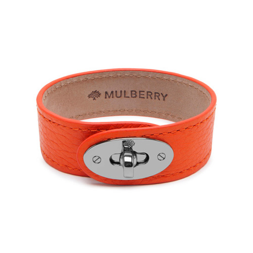 Mulberry Bayswater Bracelet Mandarin Small Classic Grain