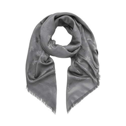 Mulberry Monogram Block Coloured Scarf Silver Star Jacquard