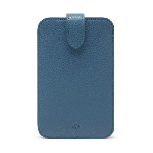 Mulberry Smartphone Cover Steel Blue Small Classic Grain