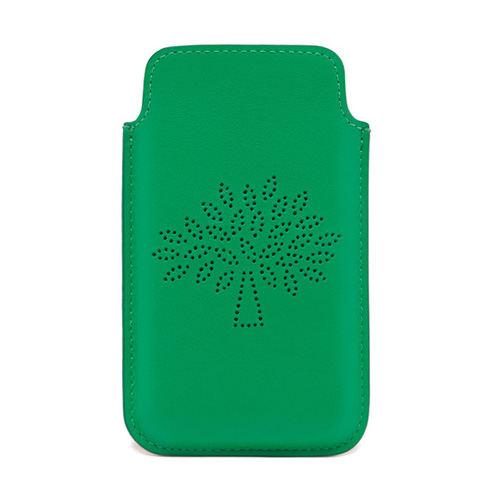 Mulberry Blossom iPhone 5 Cover Jungle Green Calf Nappa