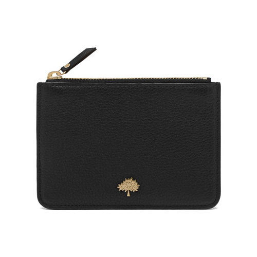 Mulberry Tree Coin Pouch Black Small Classic Grain