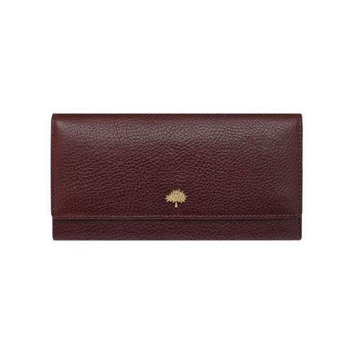 Mulberry Tree Continental Wallet Oxblood Natural Leather