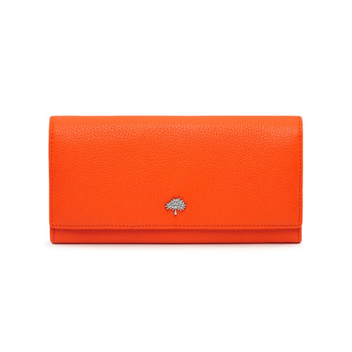 Mulberry Tree Continental Wallet Mandarin Small Classic Grain