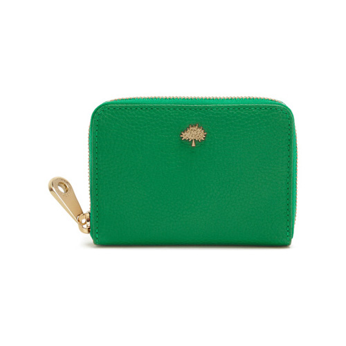 Mulberry Tree Zip Around Purse Jungle Green Small Classic Grain