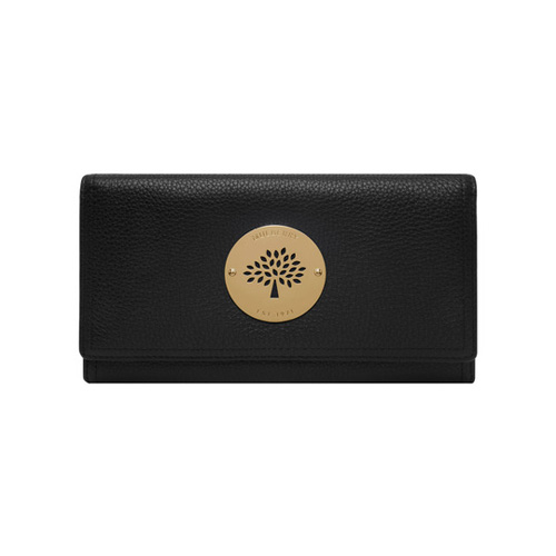 Mulberry Daria Continental Wallet Black Spongy Pebbled