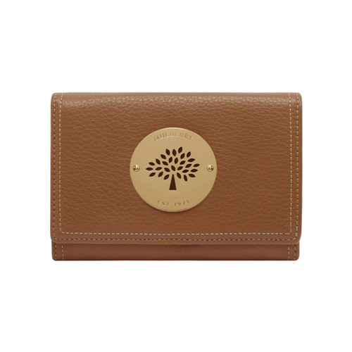 Mulberry Daria French Purse Oak Spongy Pebbled