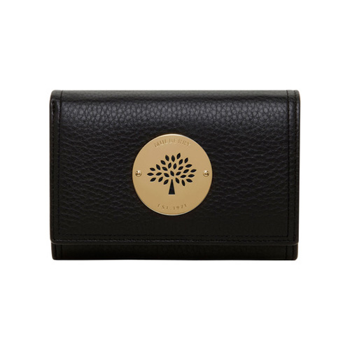 Mulberry Daria French Purse Black Spongy Pebbled