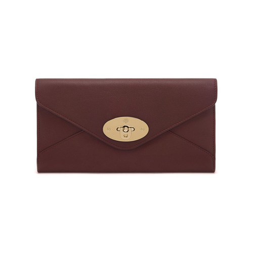Mulberry Envelope Long Wallet Oxblood Silky Classic Calf