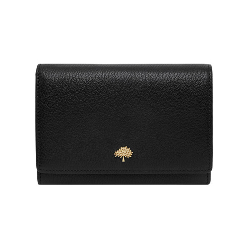 Mulberry Tree French Purse Black Glossy Goat