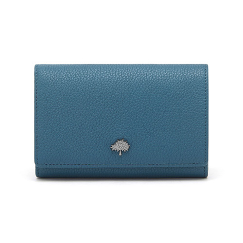 Mulberry Tree French Purse Steel Blue Small Classic Grain