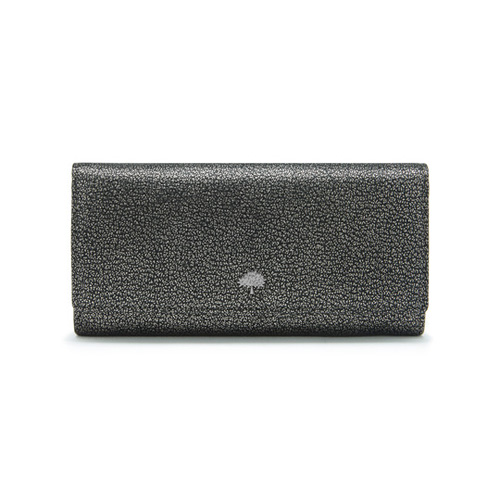 Mulberry Tree Continental Wallet Dark Silver Metallic Goat