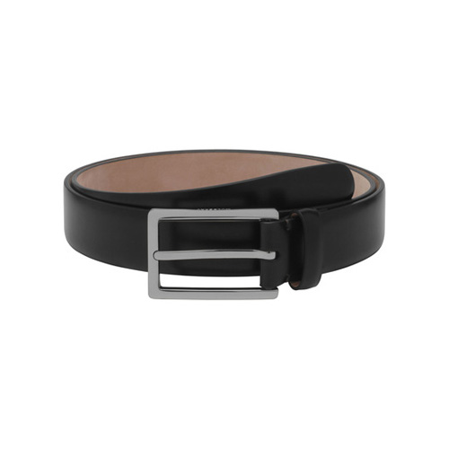 Mulberry Long Buckle Belt Black Smooth Classic With Nickel