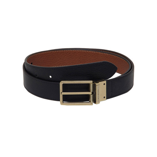 Mulberry Reversible Prong Belt Black & Oak Natural Leather