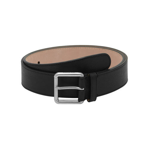 Mulberry Wide Buckle Belt Black Natural Leather