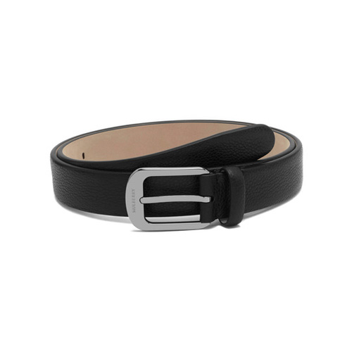 Mulberry Formal Buckle Belt Black Small Classic Grain