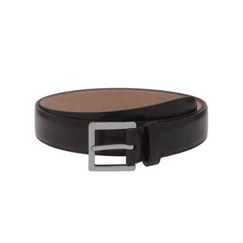 Mulberry Short Buckle Belt Brown Smooth Classic With Nickel