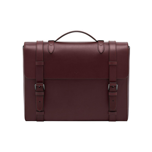 Mulberry Somerton Briefcase Oxblood Smooth Saddle