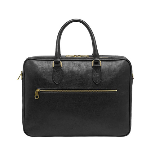 Mulberry Heathcliffe Black Natural Leather