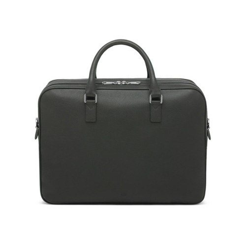 Mulberry Theo Travel Document Case Flint Grey Small Classic Grain