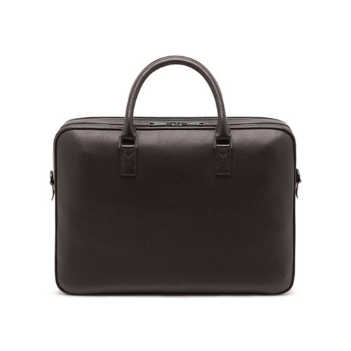 Mulberry Theo Travel Document Case Chocolate Small Classic Grain