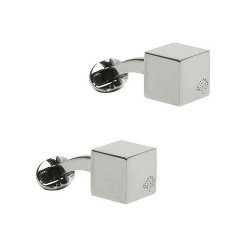 Mulberry Cube Cufflinks Silver Plated