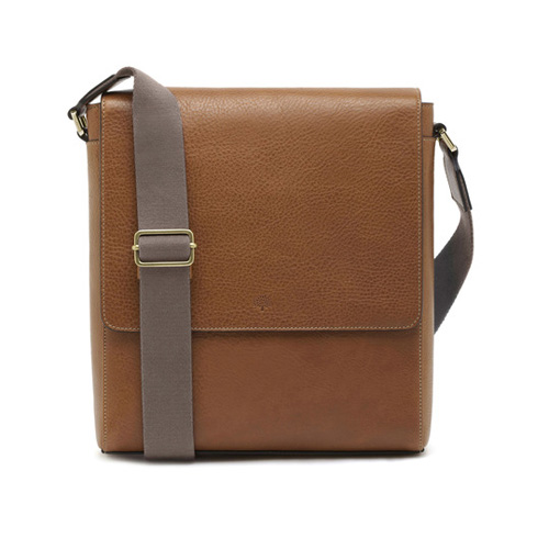 Mulberry Maxwell Slim Messenger Oak Natural Leather
