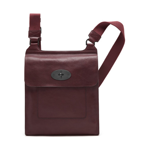 Mulberry Antony Messenger Oxblood Natural Leather