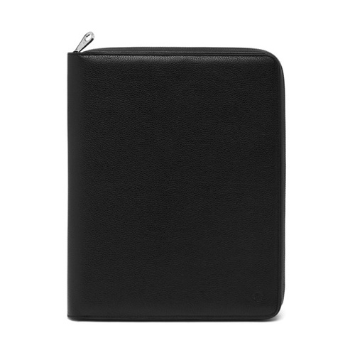 Mulberry Simple Document Folio Black Small Classic Grain