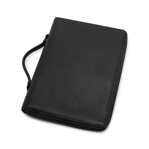 Mulberry Zip Around Document Folio Black Small Classic Grain