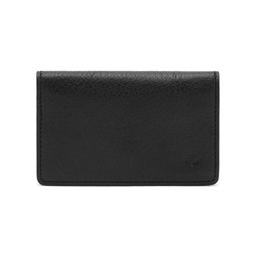 Mulberry Card Case Black Natural Leather