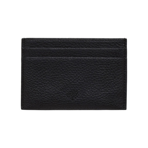 Mulberry Credit Card Slip Black Natural Leather