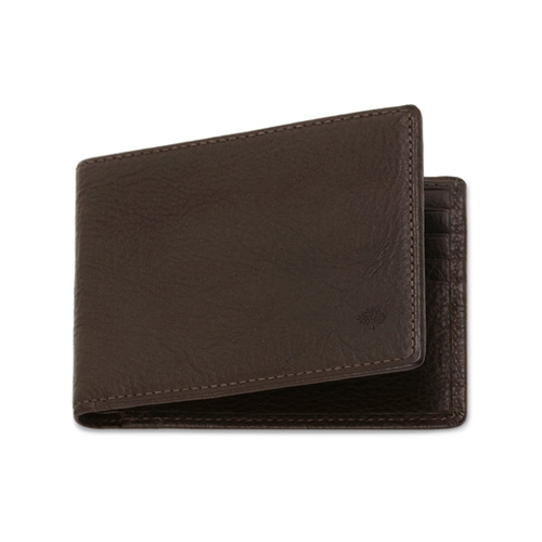Mulberry 8 Card Wallet Chocolate Natural Leather