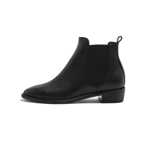Mulberry Maggie Chelsea Boot Black Burnished Leather