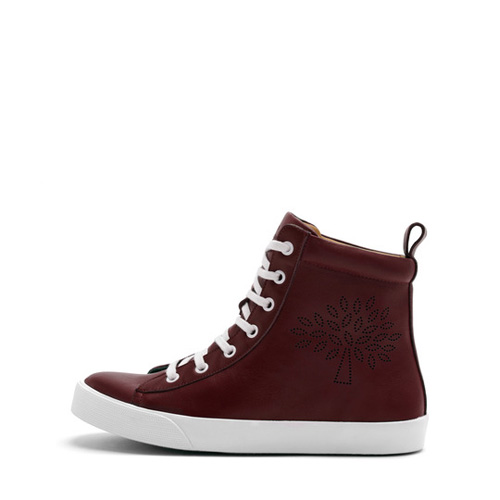 Mulberry High Top Perforated Sneakers Oxblood