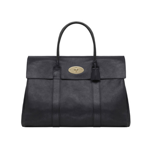 Mulberry Piccadilly Black Natural Leather