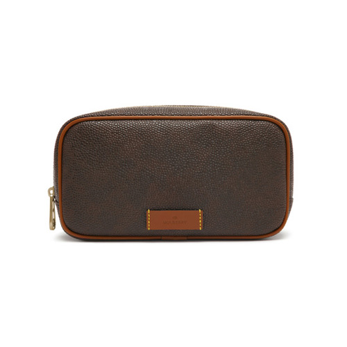Mulberry Wash Case Mole Scotchgrain With Cognac Detailing
