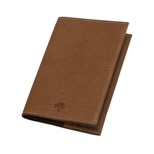 Mulberry Passport Cover Oak Natural Leather