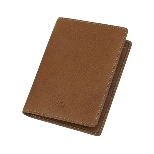Mulberry Passport Cover Wallet Oak Natural Leather