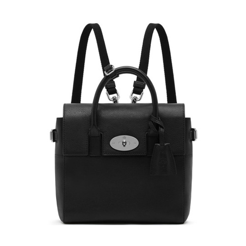 Mulberry Mini Cara Delevingne Bag Black Natural Leather