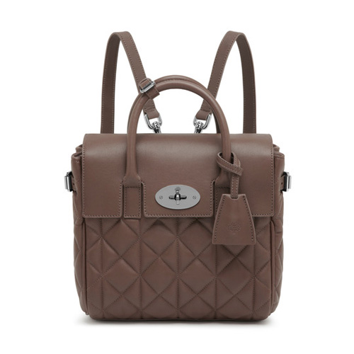 Mulberry Mini Cara Delevingne Bag Taupe Quilted Nappa