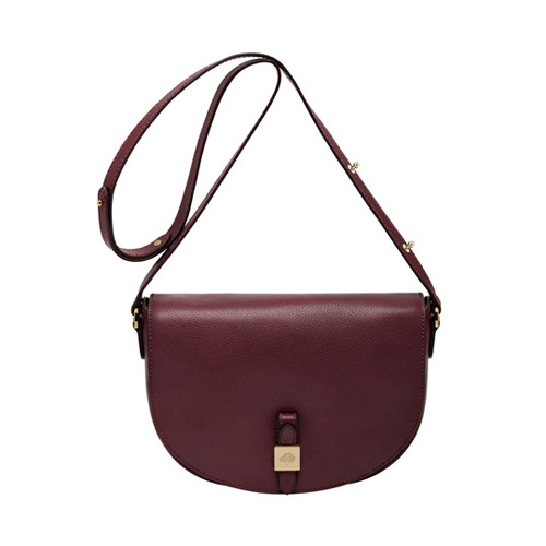 Mulberry Tessie Satchel Oxblood Soft Small Grain