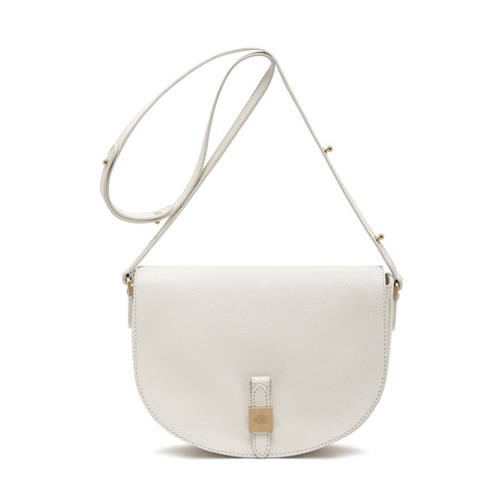 Mulberry Tessie Satchel Cream Soft Small Grain