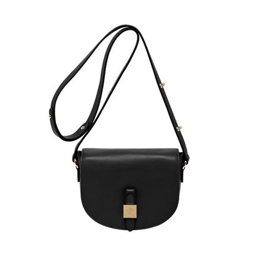 Mulberry Tessie Satchel Black Soft Small Grain