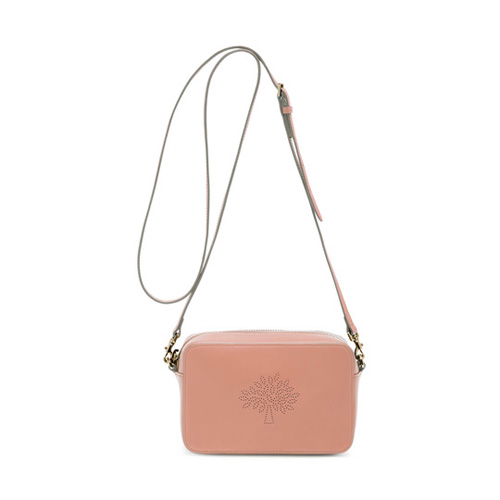 Mulberry Blossom Pochette with Strap Rose Petal Calf Nappa