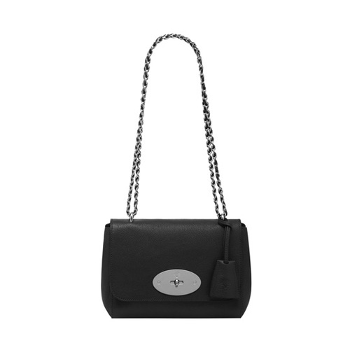 Mulberry Lily Black Glossy Goat With Nickel