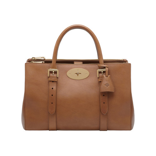 Mulberry Bayswater Double Zip Tote Oak Natural Leather
